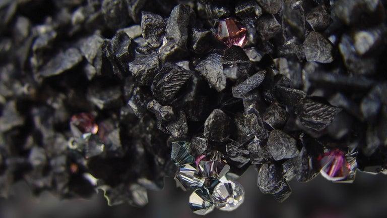 Duchess Pendant Large Black Ceiling Lamp Swarovski Crystal