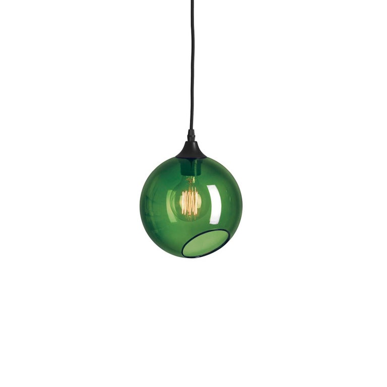 Danish Flash Your Lamps, Brass and Colorful Glass Chandelier For Sale