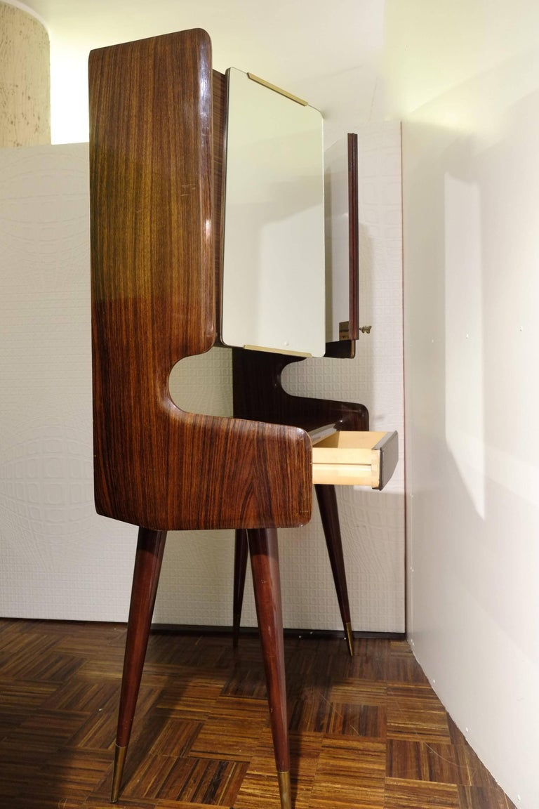 Mid-Century Modern Vintage Mid-Century Italian Bar Cabinet in the Style of Ico Parisi, 1950s For Sale