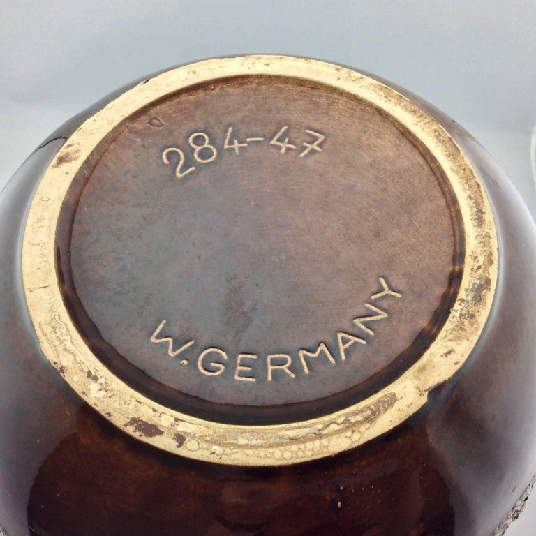 Extra Large Mid Century Modern West German Glazed Ceramic