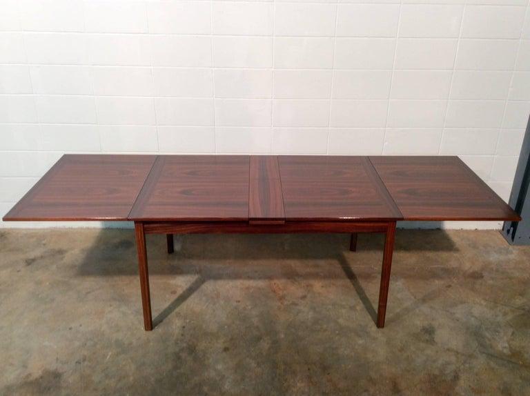 Mid Century Swedish Modern Folding Rosewood Dining Table