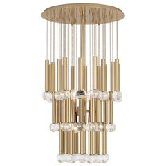 Milano Twinkle Chandelier in Brass