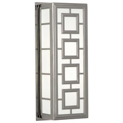 Parker Rectangular Sconce in Nickel