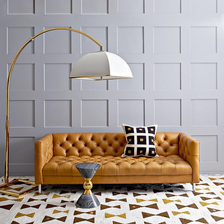 American Baxter Sofa in Pearl Velvet For Sale