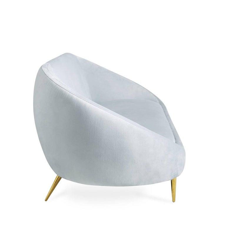 Modern Ether Velvet Sofa For Sale