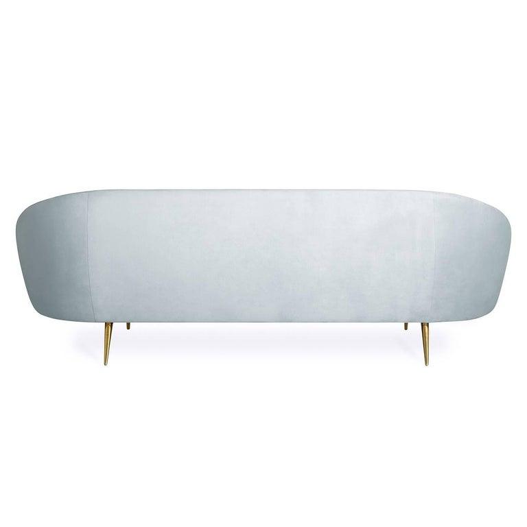American Ether Velvet Sofa For Sale
