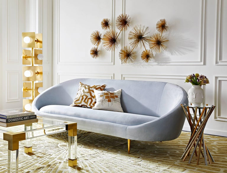 Ether Velvet Sofa In New Condition For Sale In New York, NY