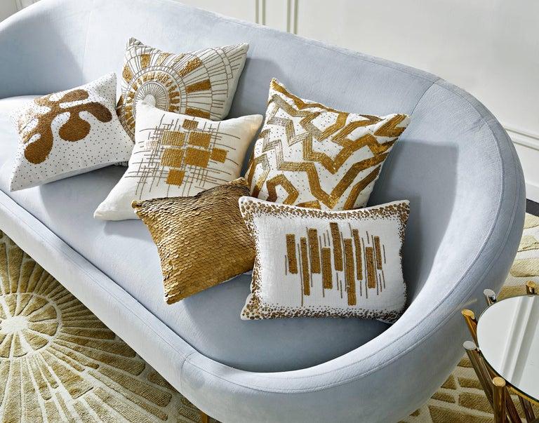 Contemporary Ether Velvet Sofa For Sale