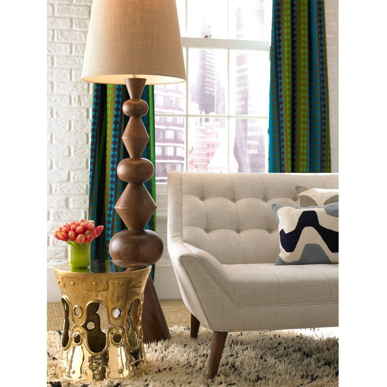 Polished Brass Ulu Concave Side Table For Sale