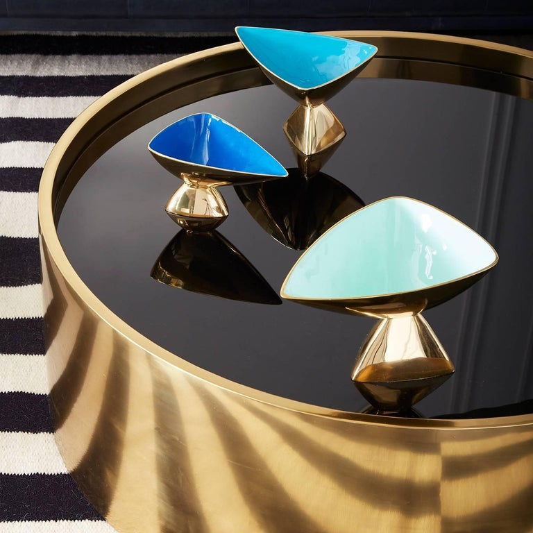 Modern Alphaville Honed Brass Cocktail Table For Sale