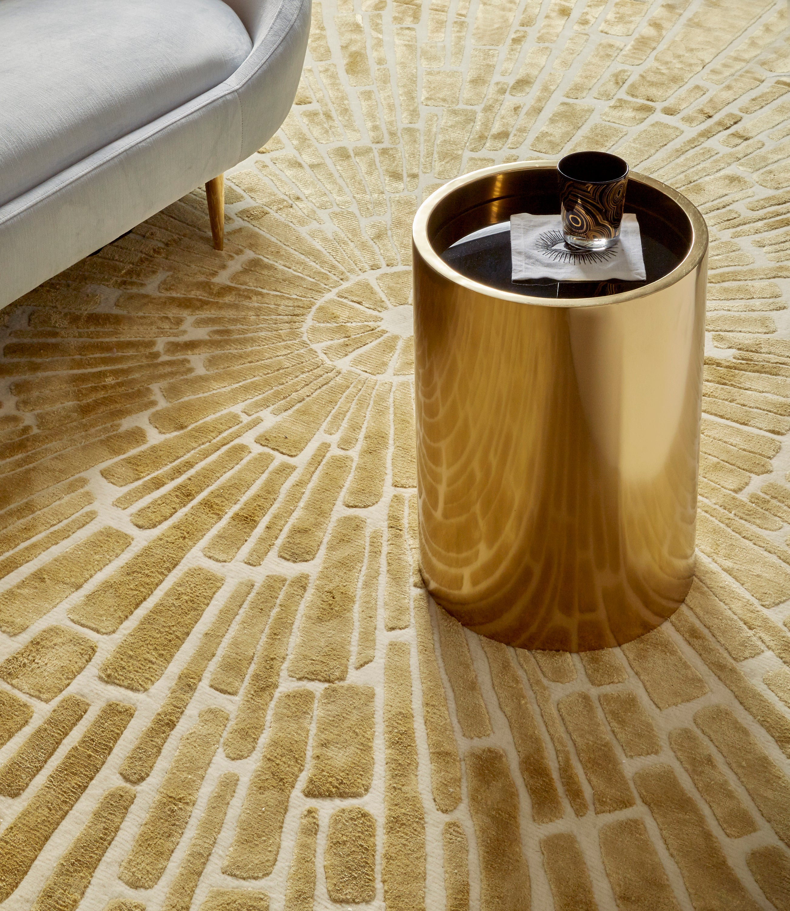 Alphaville Honed Brass Petite Accent Table For Sale At 1stdibs