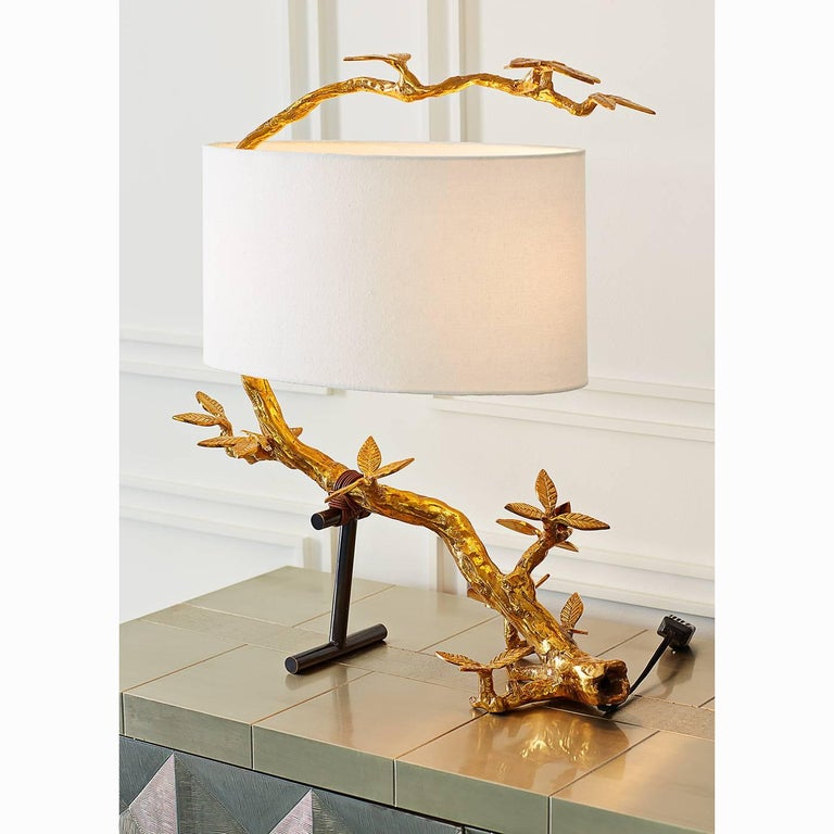 Kyoto Cast Brass Table Lamp 4