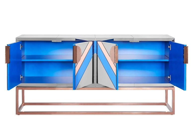 Nouvelle Mirrored Credenza 3