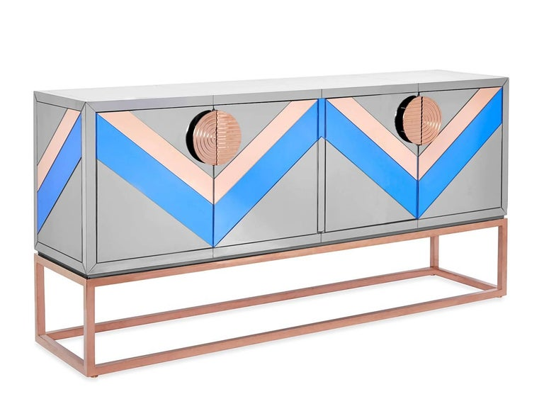 Nouvelle Mirrored Credenza 2