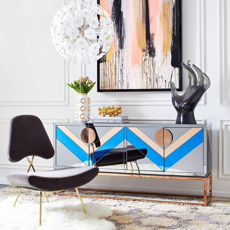 Nouvelle Mirrored Credenza 6