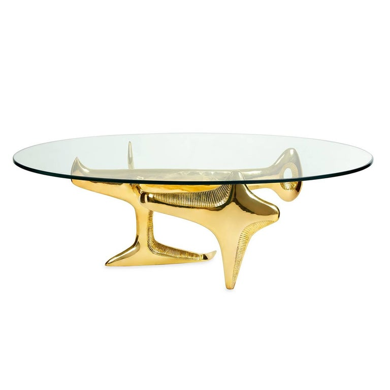 Reform Brass Cocktail Table At 1stdibs