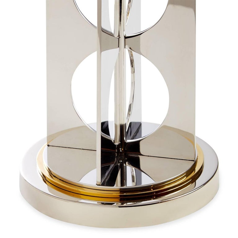 Modern Berlin Brass and Stainless Steel Table Lamp For Sale