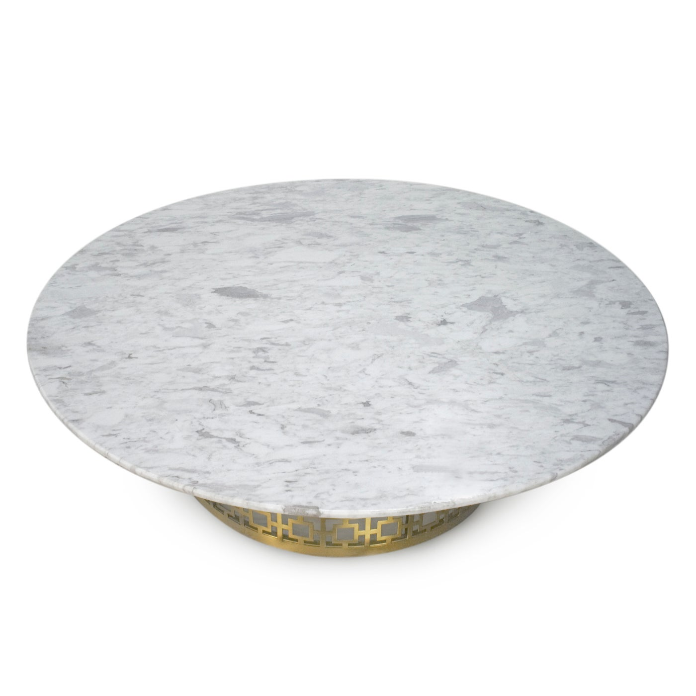 Nixon Brass And Marble Cocktail Table For Sale At 1stdibs