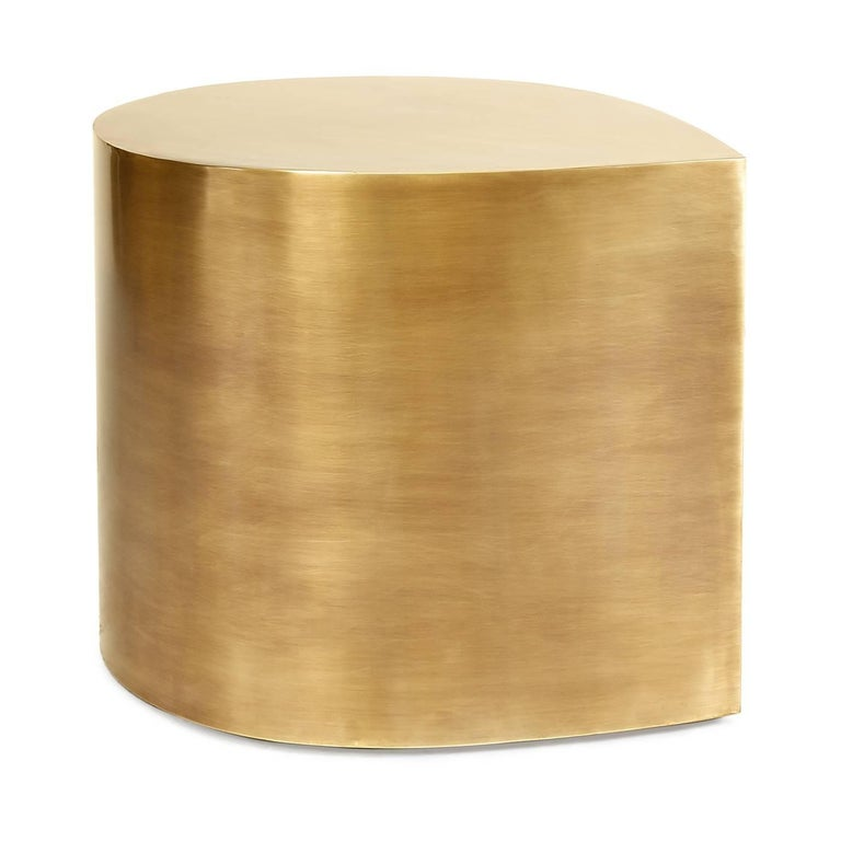 Modern Brass Teardrop Table For Sale