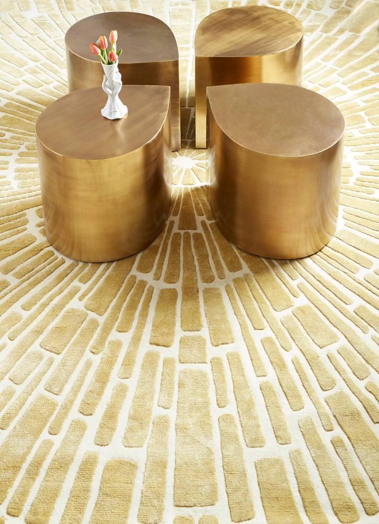 American Brass Teardrop Table For Sale