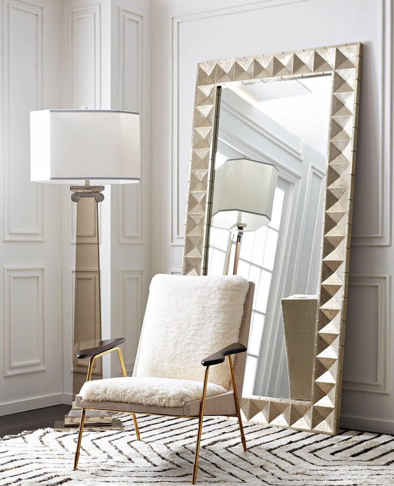 Talitha nickel floor mirror for sale at 1stdibs for Floor mirrors for sale