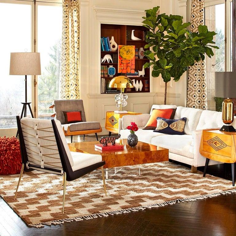 Contemporary Malibu Sofa in Pearl Bouclé For Sale
