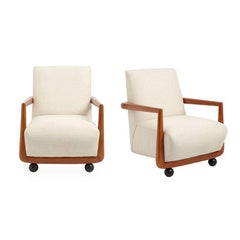 St. Germain Linen Club Chair