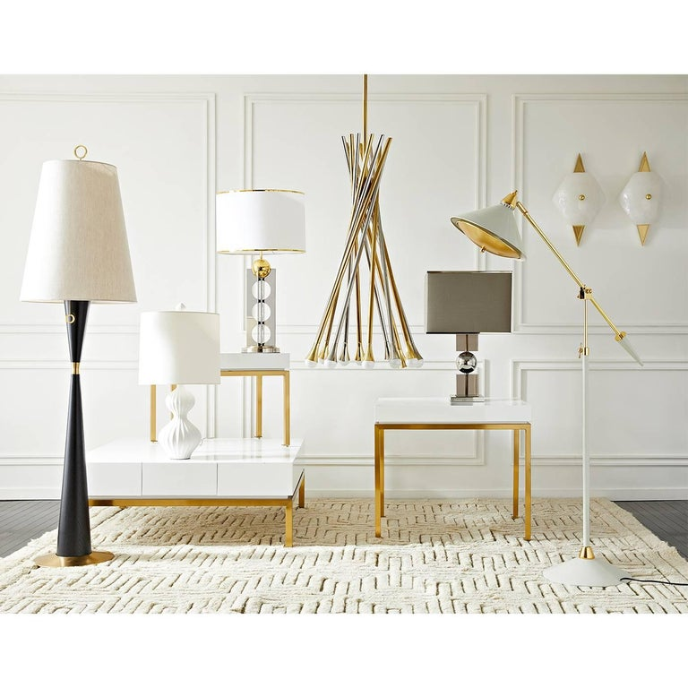 Jacques Stacked Lucite Lamp In New Condition For Sale In New York, NY