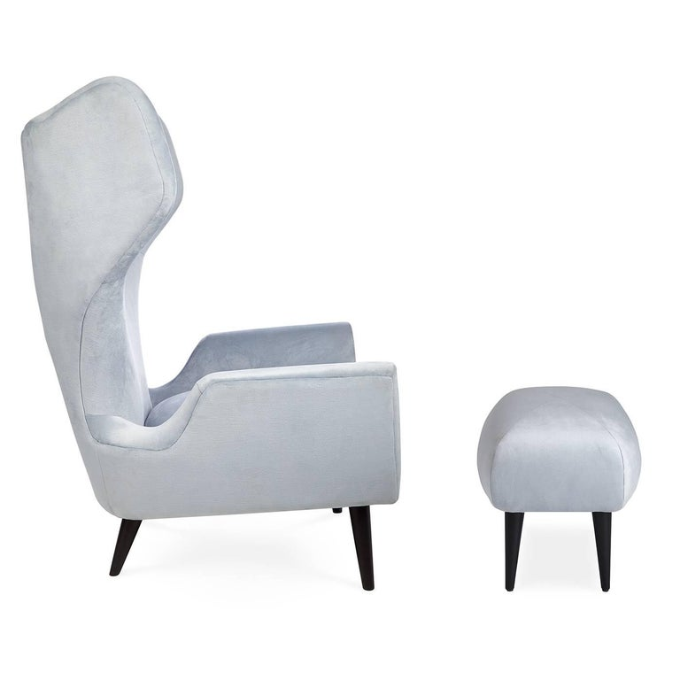 Contemporary Milano Modern Wingback Chair For