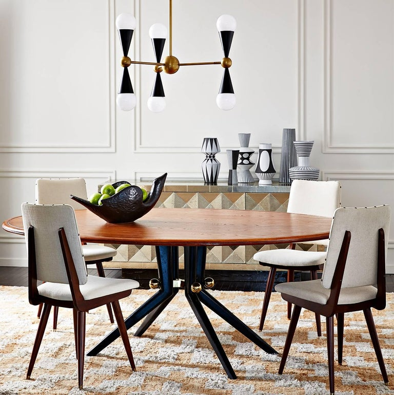 Trocadero Lacquered Goatskin Dining Table For Sale 1