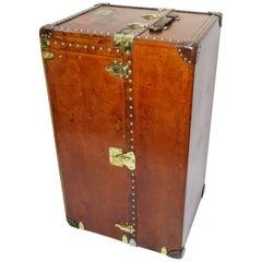 Early 20th Century Louis Vuitton Haut Leather Wardrobe Trunk, Malle Armoire