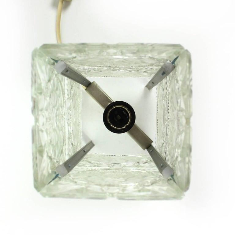 Bohemian Crystal Glass Table Lamp by Kamenický Šenov, Czechoslovakia, circa 1970 For Sale 1
