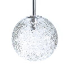 Large Globe Glass Ceiling Light from Doria, Germany, circa 1970