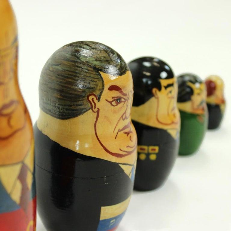20th Century Matryoshka of Soviet Politicians, Soviet Era, USSR, circa 1980s For Sale