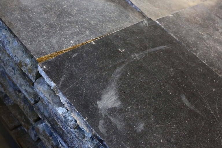 Hammered Reclaimed Bluestone Flooring from Belgium For Sale