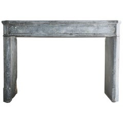 Empire Style Antique Fireplace, Blue Marble