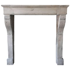 New Arrival, Antique Fireplace of French Limestone from the 19th Century, 903