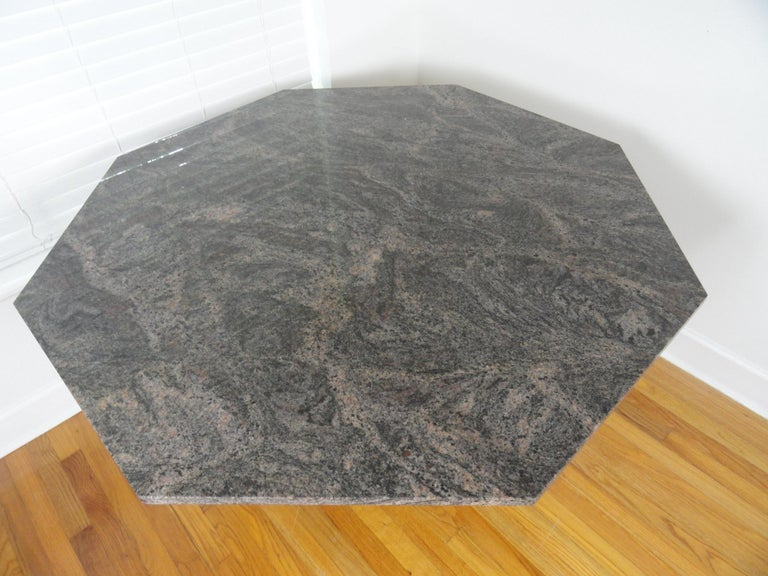 20th century American octagonal top and base marble table.