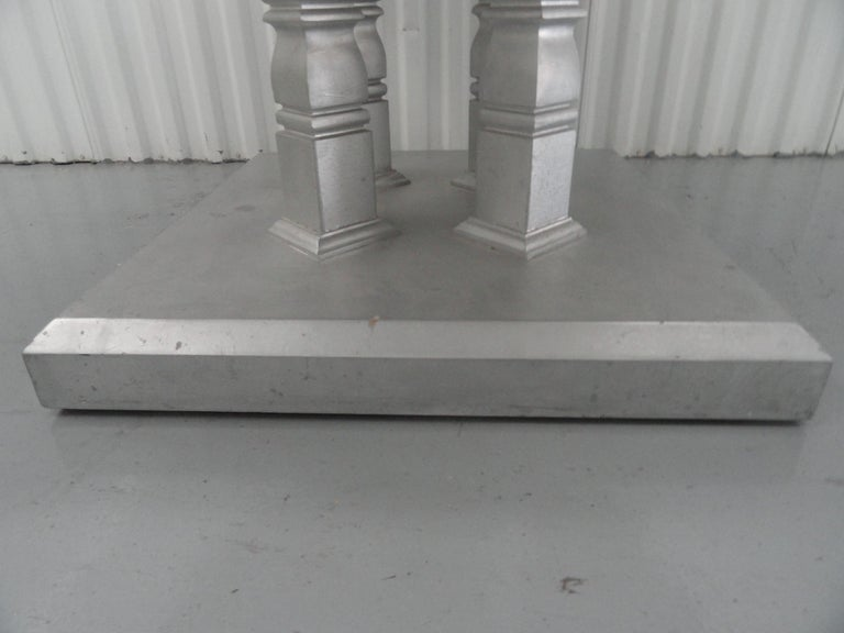 Marble Four-Column Table For Sale