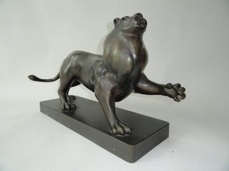 Roberto Estevez, Signed, Lion in Bronze 2