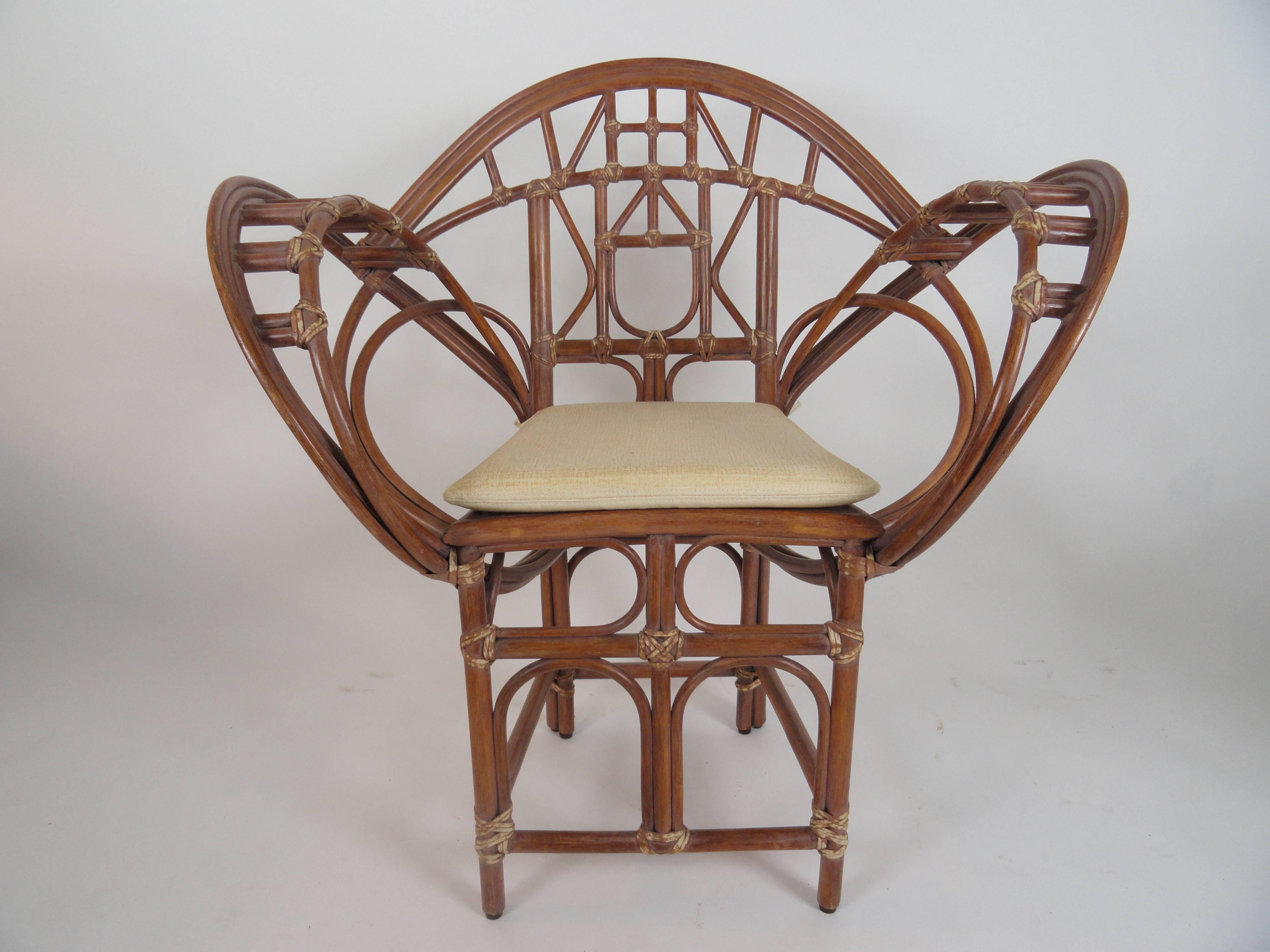Pair Of McGuire Butterfly Chairs