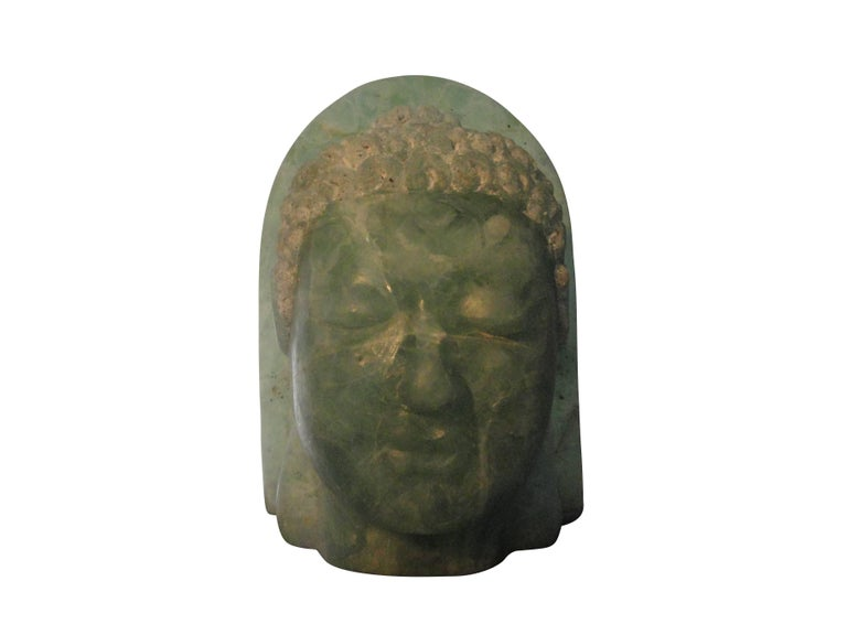 Asian 20th Century Folded Glass Buddha For Sale