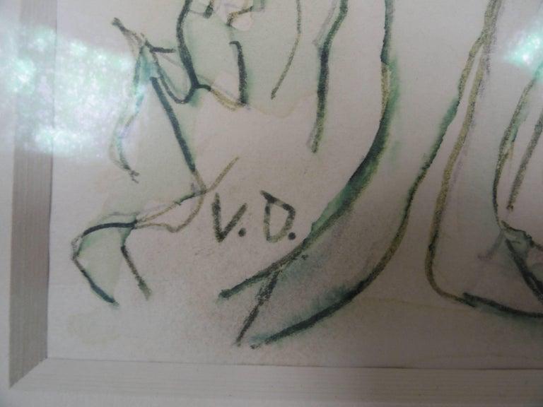 Mid-20th Century Kees van Dongen Signed Original Water Color For Sale