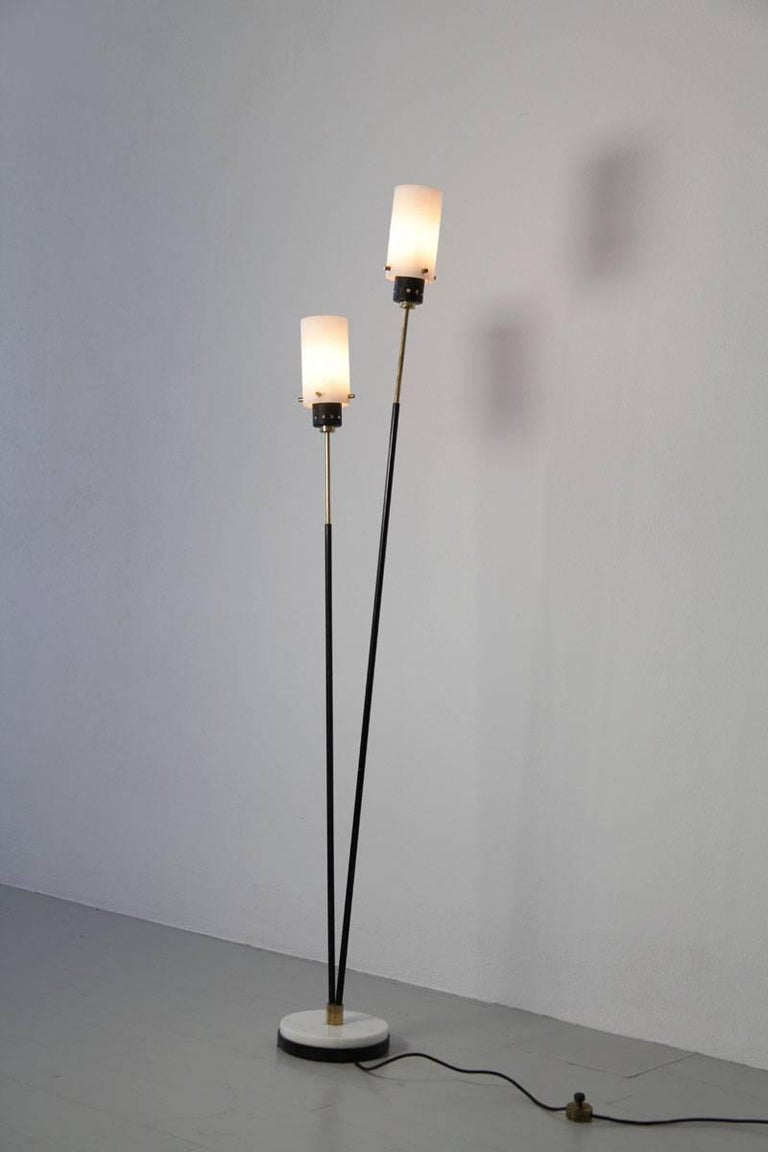 Pair of Italian Floor Lamps by Stilnovo, 1960s In Good Condition For Sale In Wolfurt, AT