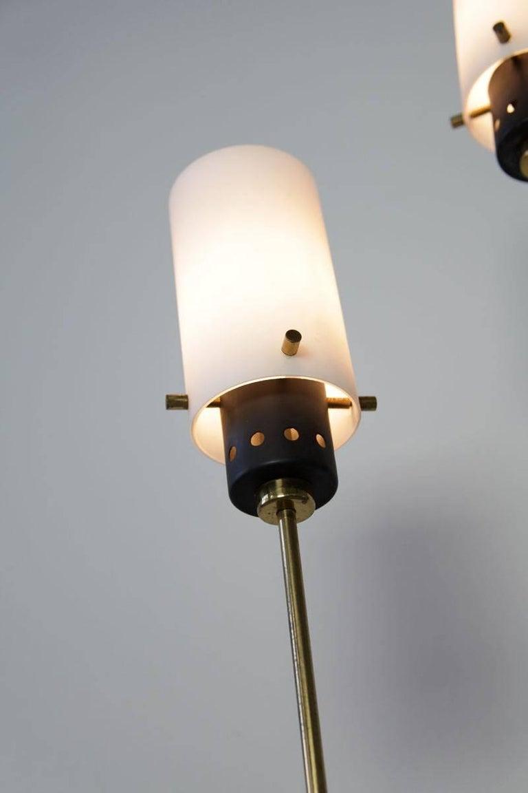 Brass Pair of Italian Floor Lamps by Stilnovo, 1960s For Sale