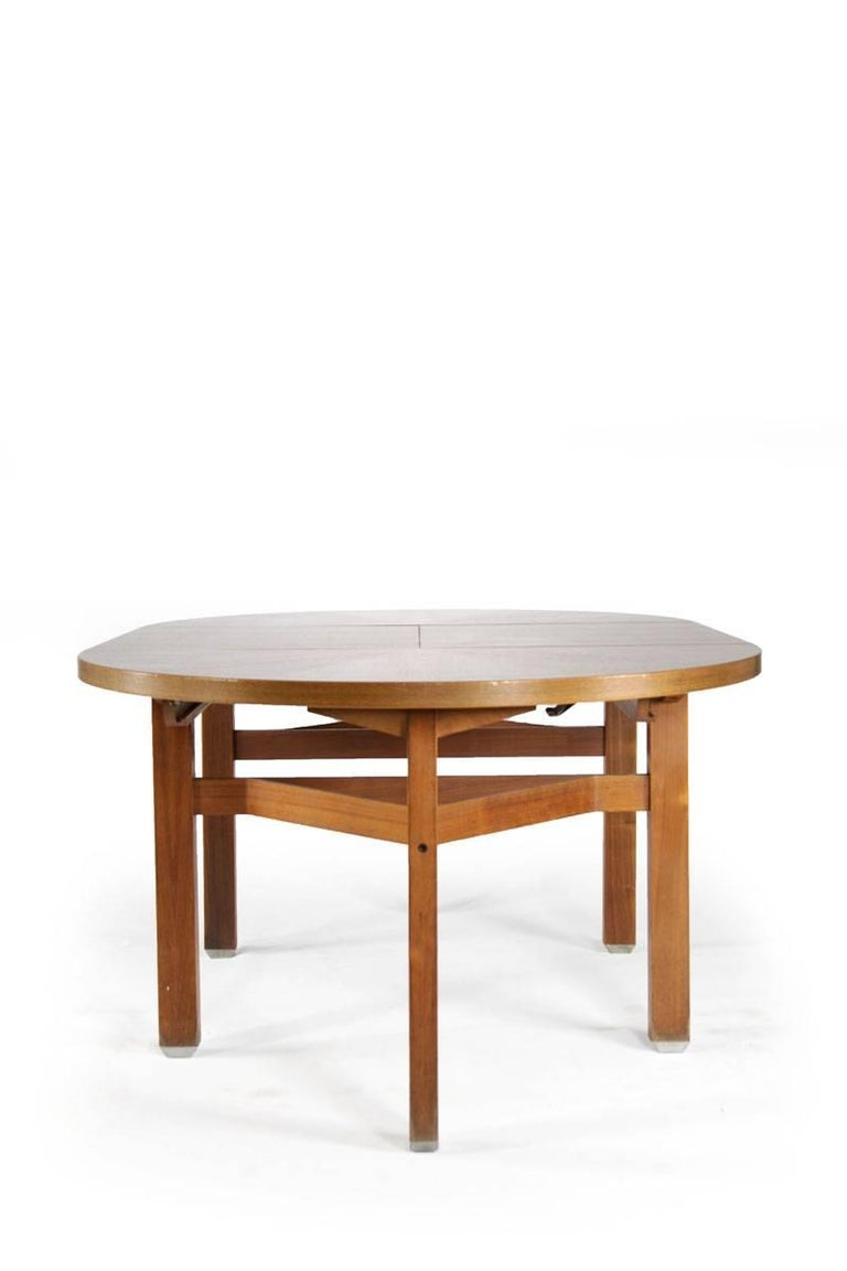 Ico Parisi Wooden Dining Table, Italy, 1960s In Good Condition For Sale In Wolfurt, AT