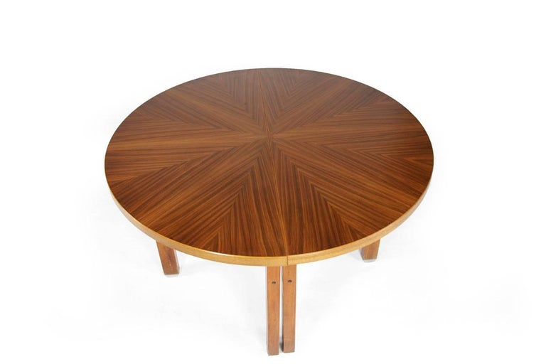 Dining table, designed by Ico Parisi, Italy, 1960s. The table extends 60 cm. A recurring design element is the Y-form in the strutting, which we already are familiar with from his