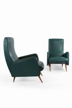 Pair of Italian 1950s Chairs in original upholstery