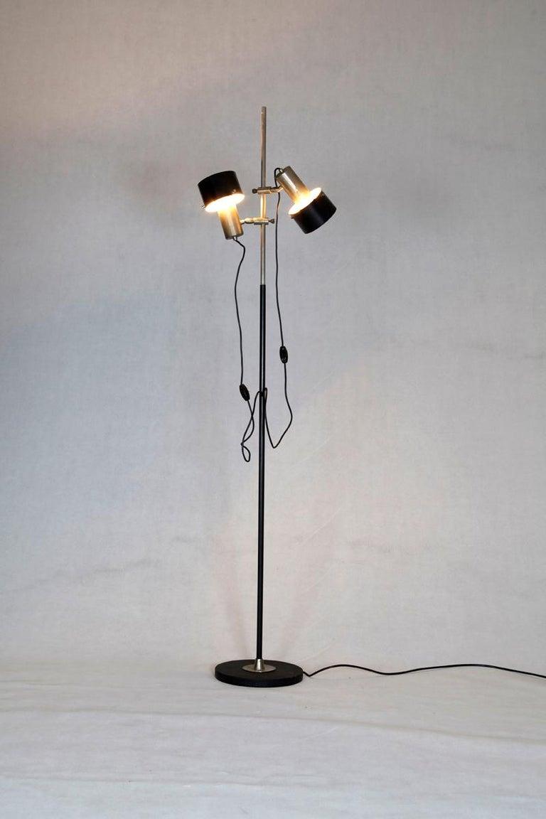 Mid-Century Modern Floor Lamp, Design by Stilnovo, Italy, 1960s For Sale