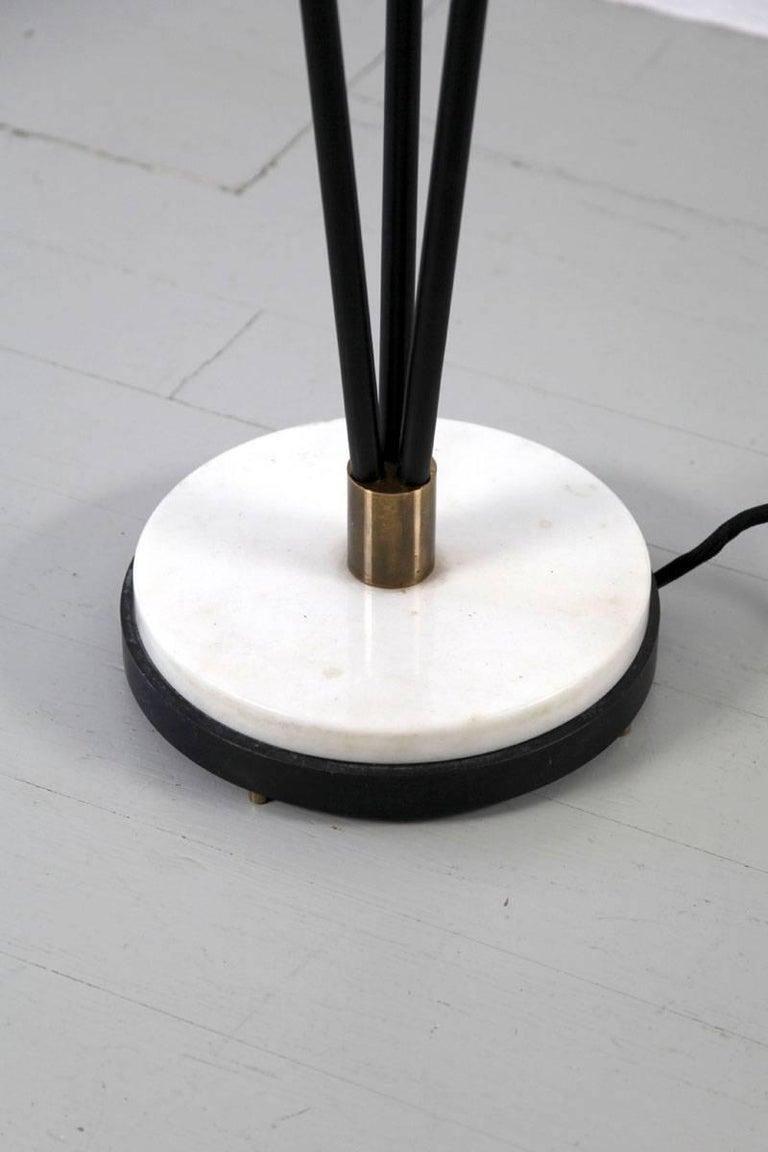 Italian floor lamp with three slim opaline glasstubes for 10 inch reflector floor lamp globe glass
